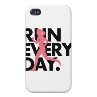 """Pink/Black """"Run Every Day"""" Case For iPhone 4"""