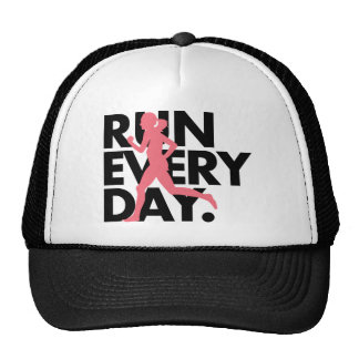 "Pink/Black ""Run Every Day"" Trucker Hat"