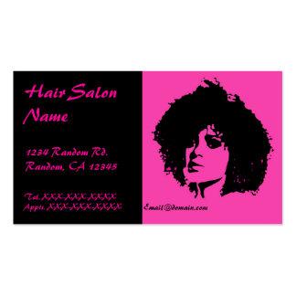 Pink black sassy fashion woman hair salon cards business card