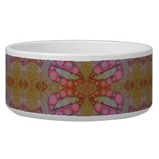 Pink Black Sassy Lips Pet Water Bowl