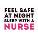 Pink Black Sassy Nurse Humor Postcard