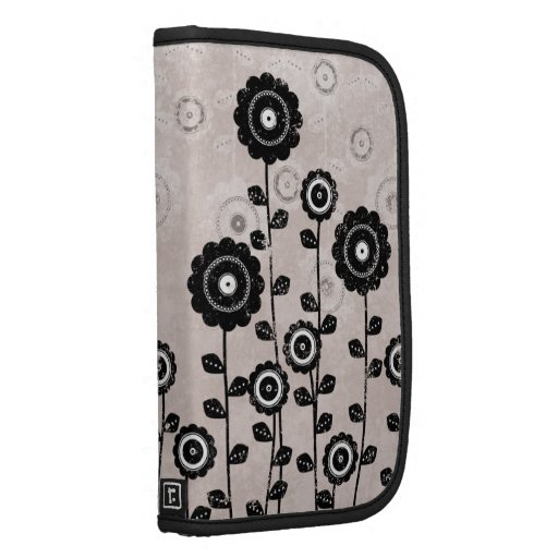 Pink & Black Shabby Chic Floral Smartphone Folio Folio Planners
