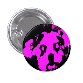 Pink/Black Shih Tzu Puppy Small Round Button