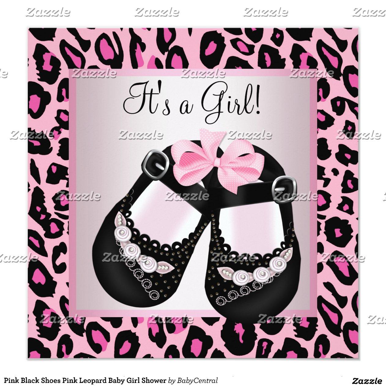 pink black shoes pink leopard baby shower 5 25