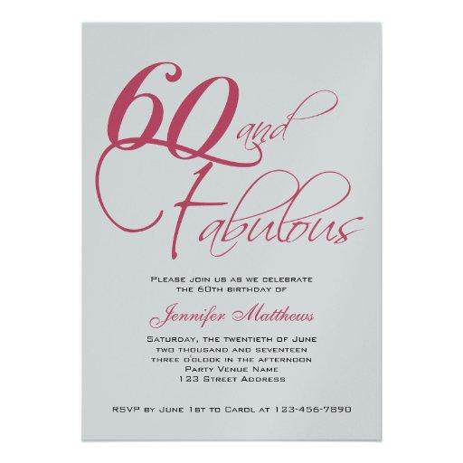 Custom 60Th Birthday Invitations was best invitation design