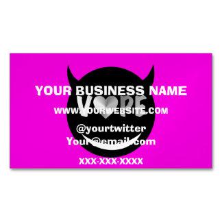Pink Black Silver Vape Heart Business Card Magnet