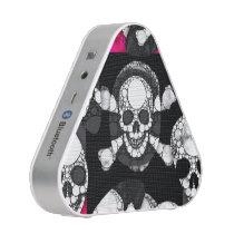Pink Black Skull Bling Pattern Bluetooth Speaker