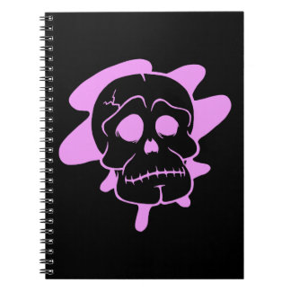 Pink/Black Skull Notebook (80 Pages B&W)
