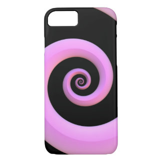 Pink/Black Spiral iPhone 7 Case