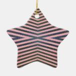pink black stripes christmas ornaments