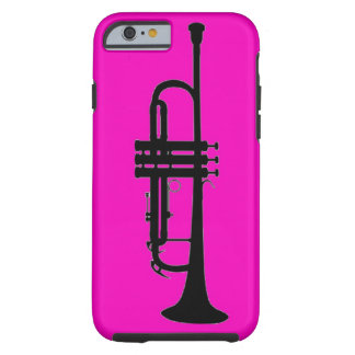 Pink black trumpet silhouette tough iPhone 6 case