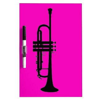 Pink black trumpet silhouette Dry-Erase boards