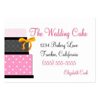 Pink & Black Wedding Cake-Bakery Large Business Cards (Pack Of 100)
