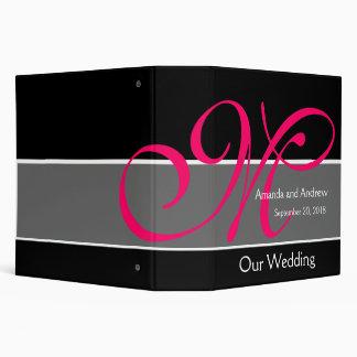 Pink Black Wedding Planner Keepsake Binder