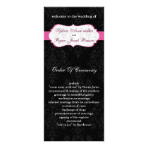 pink black Wedding program