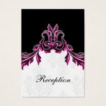 pink black wedding Reception Cards