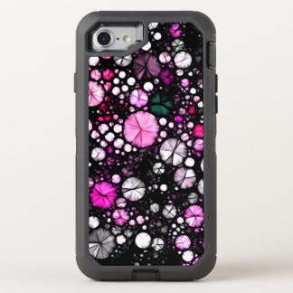 Pink Black White Abstract OtterBox Defender iPhone 7 Case