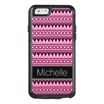 Aztec Themed Pink Black White Aztec OtterBox iPhone 6 Case