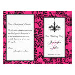 Pink Black White Chandelier Scroll Wedding Program Flyer