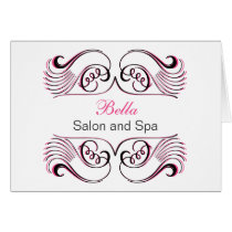 pink black & white Chic Business Thank You Cards