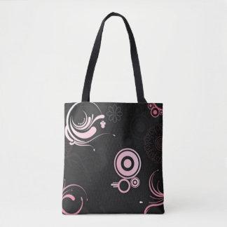 Pink-Black-White Shoes Tote Bag
