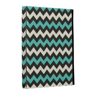 Pink Black White Zig Zag Chevron Pattern iPad Case