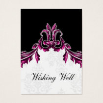 pink black wishing well cards