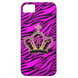 Pink & Black Zebra Princess iPhone 5 Case