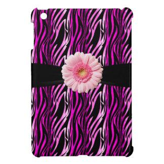 Pink Black Zebra Print Gerbera iPad Mini Case For The iPad Mini