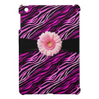 Pink Black Zebra Print Gerbera iPad Mini iPad Mini Cases