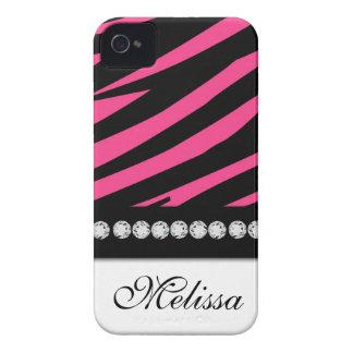 Pink Black Zebra Print iPhone 4 Case-Mate iPhone 4 Cover