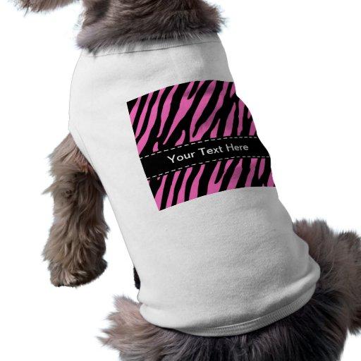 Pink & Black Zebra Stripes; Animal Print Pet Clothes