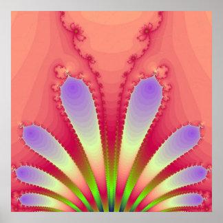 Pink Blast Fine Art Fractal Poster