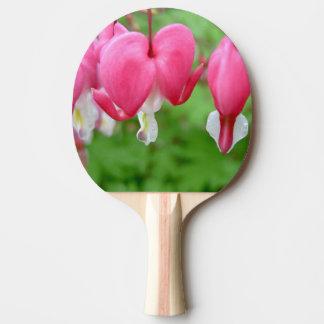 Pink Bleeding Heart Ping-Pong Paddle
