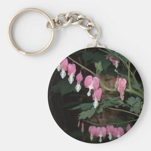 Pink Bleeding Heart Keychains