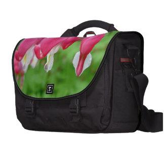 Pink Bleeding Heart Computer Bag