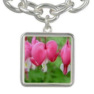 Pink Bleeding Heart Charm Bracelets