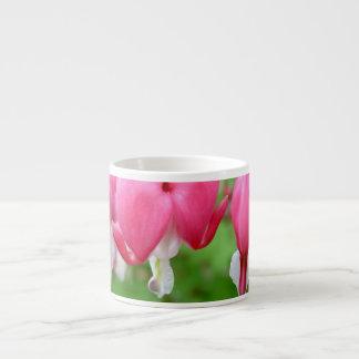 Pink Bleeding Heart Espresso Mug