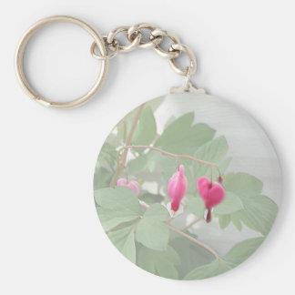 Pink Bleeding Heart ~ Textured Keychains