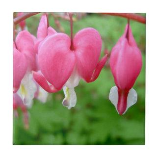 Pink Bleeding Heart Ceramic Tiles