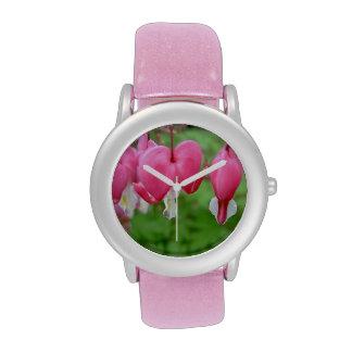 Pink Bleeding Heart Watches