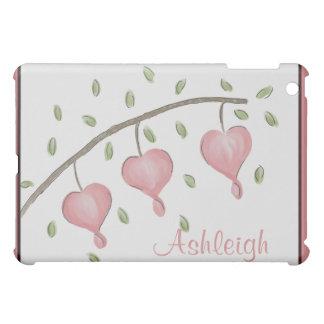 Pink Bleeding Hearts Customizable iPad Mini Case