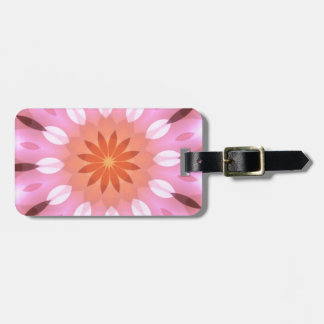 Pink Blends into Tangerine Flower Kaleidoscope Luggage Tags