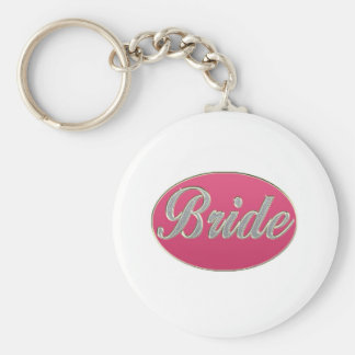 Pink Bling Bride Keychain