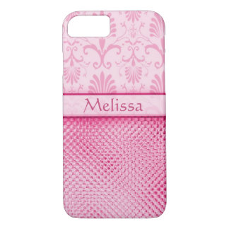 Pink Bling Effect Pattern Personalized iPhone 7 Case