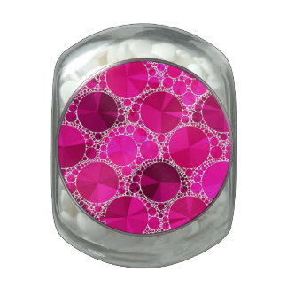 Pink Bling Glass Candy Jars