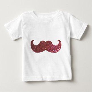Pink Bling Mustache (Faux Glitter Graphic) T Shirt