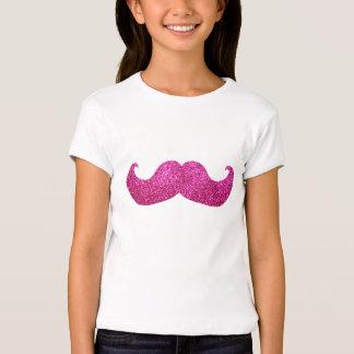 Pink Bling Mustache (Faux Glitter Graphic) T-Shirt