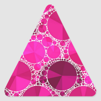 Pink Bling Triangle Sticker