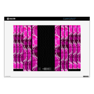 "Pink Bling Unique Pattern 15"" Laptop Decal"